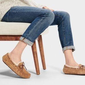 UGG Dakota Tan Suede Shearling Slippers Size 6
